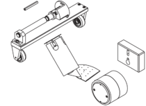 Zestaw do zgrzewania bitumu, z dyszą 80 mm; UNIROOF ST/ AT – 156.446