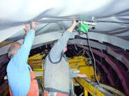 Leister Comet praca w tunelu