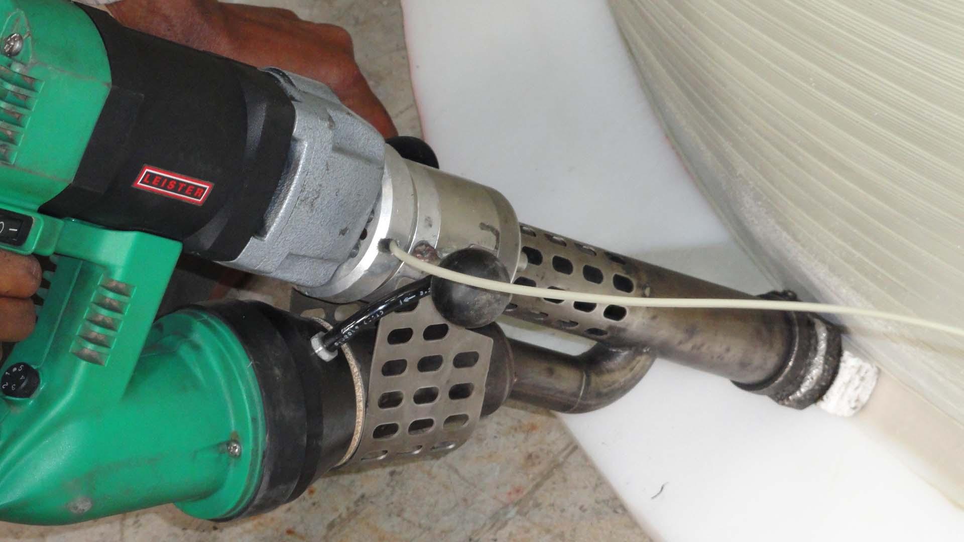 Leister Fusion 3C spawanie zbiornika - detal