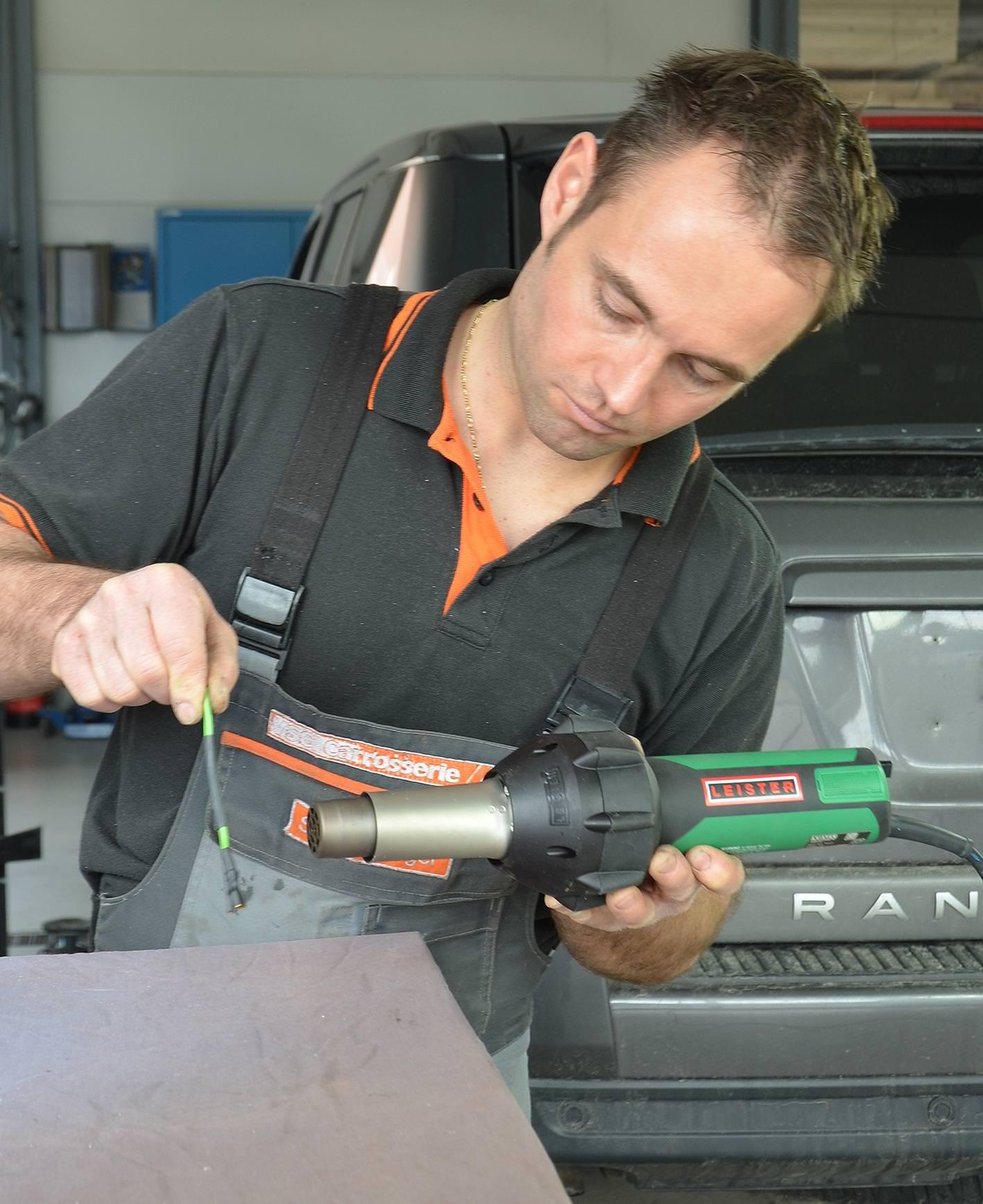 Leister Triac ST - naprawa w warsztacie samochodowym (wersja do dysz nasuwanych) 141.227