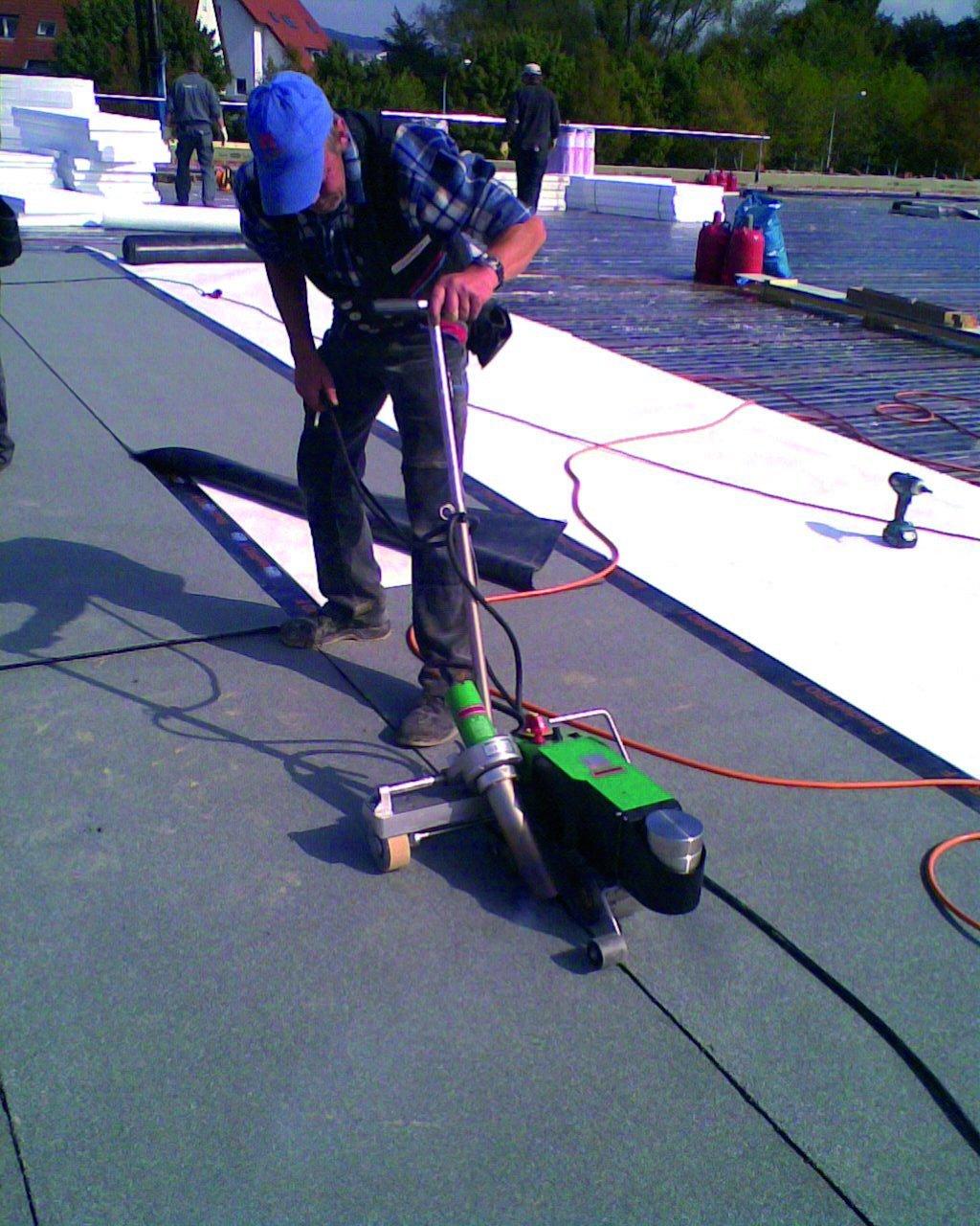 Leister bitumat b2 zgrzewnie bitumu na dachu 140.437