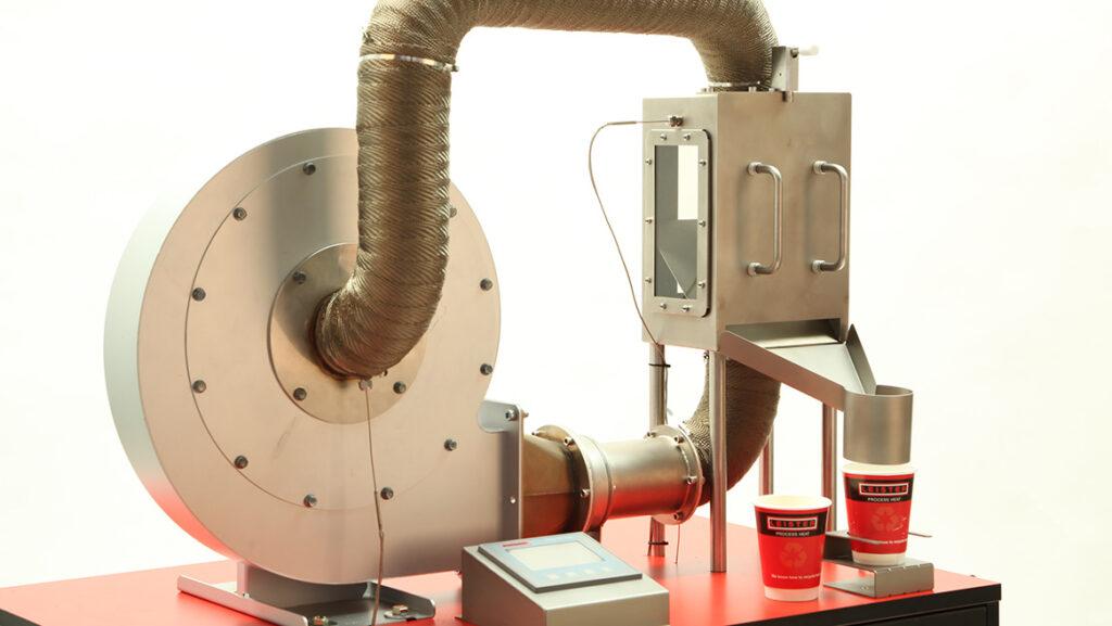 Przykładowy układ do recyklingu gorącego powietrza
