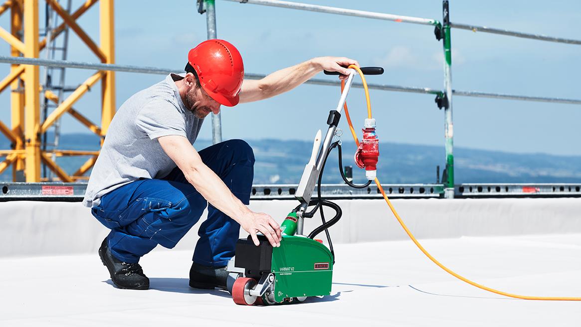Dobór parametrów zgrzewania folii dachowej